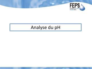 Analyse  du pH