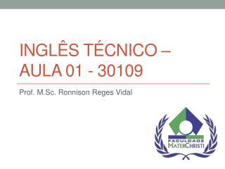 Ingl�s T�cnico � Aula 01 - 30109