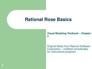 Rational Rose Basics