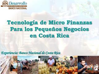 Tecnología de Micro Finanzas Para los Pequeños Negocios en Costa Rica