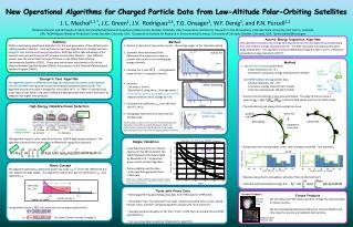 New Operational Algorithms for  Charged Particle  Data from Low-Altitude Polar-Orbiting Satellites