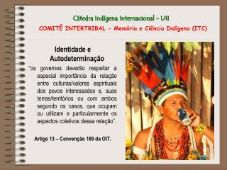 Cátedra Indígena Internacional - UII COMITÊ INTERTRIBAL - Memória e Ciência Indígena (ITC)