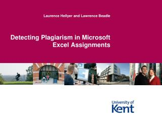 Detecting Plagiarism in Microsoft Excel Assignments