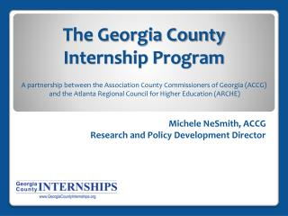The Georgia County  Internship Program