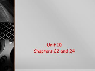 Unit 10 Chapters 22 and 24