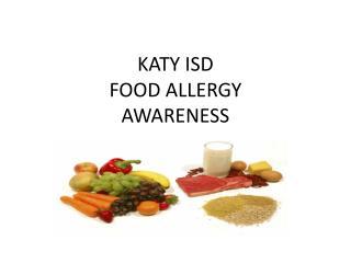 KATY ISD FOOD ALLERGY AWARENESS