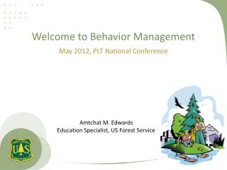 Welcome to Behavior Management