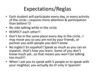 Expectations/Reglas