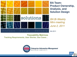 Meeting Traceability Requirements