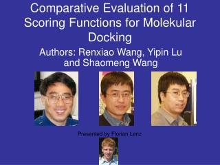 Comparative Evaluation of 11 Scoring Functions for Molekular Docking