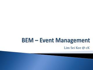 BEM – Event Management