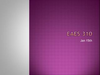 EAES 310