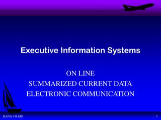 Executive Information Systems