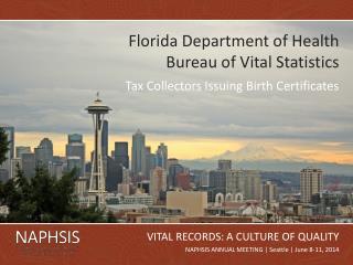 Florida Department of Health Bureau of Vital Statistics