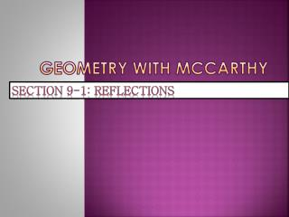 Geometry with McCarthy