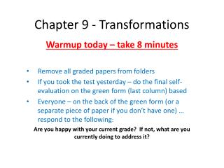 Chapter 9 - Transformations