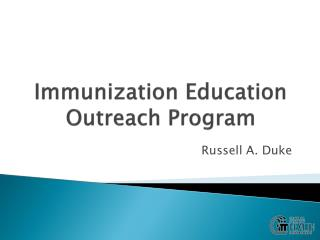 Immunization Education Outreach Program