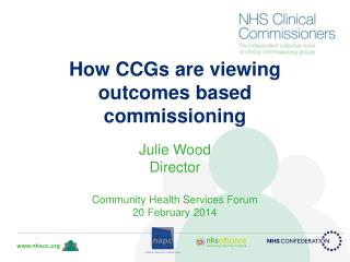 How CCGs are viewing outcomes based commissioning