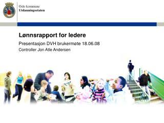 Lønnsrapport for ledere