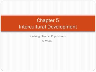 Chapter 5 Intercultural Development
