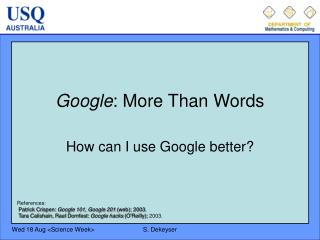 Google : More Than Words