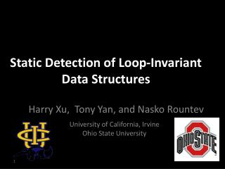 Static Detection of Loop-Invariant Data Structures
