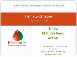 Hémato-gériatrie en Limousin