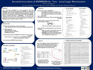 INTRODUCTION Two  level logic minimization crucial in VLSI design