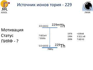 Источник ионов тория - 229