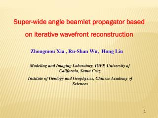 Super-wide angle  beamlet propagator based  on iterative  wavefront  reconstruction