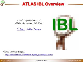 ATLAS IBL Overview