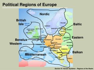 Political Regions of Europe