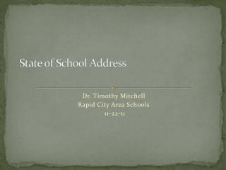 State of School Address