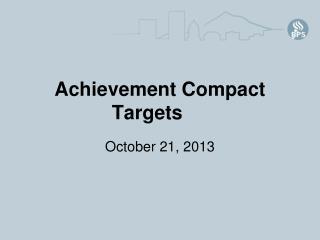 Achievement Compact Targets