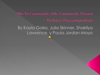 The  Tú  Commands,  Uds . Commands, Present Perfect y  Pluscuamperfecto