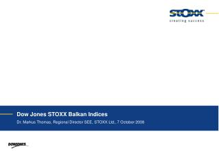 Dow Jones STOXX Balkan Indices