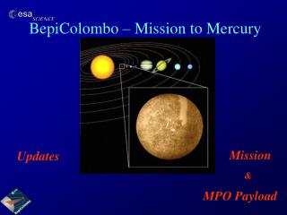 BepiColombo – Mission to Mercury