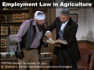 Employment Law in Agriculture