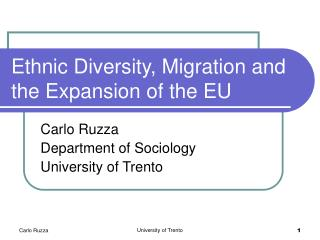 Ethnic Diversity, Migration and the Expansion of the EU