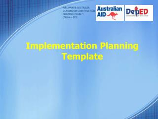 Implementation Planning Template