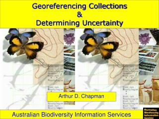 Georeferencing Collections &  Determining Uncertainty