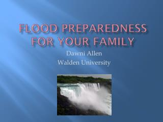 Flood Preparedness for Your Family