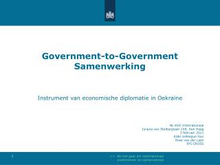 Government-to-Government Samenwerking