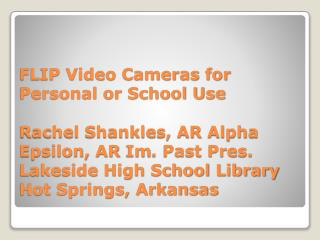 This is  a lightweight video camera; inexpensive and operates with only a few buttons
