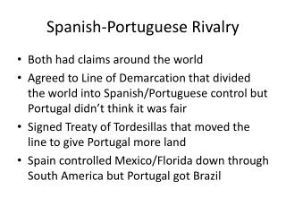 Spanish-Portuguese Rivalry
