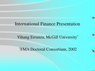 International Finance Presentation