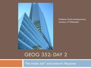 GEOG 352: Day 2