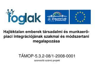 TÁMOP-5.3.2-08/1-2008-0001 azonosító számú projekt