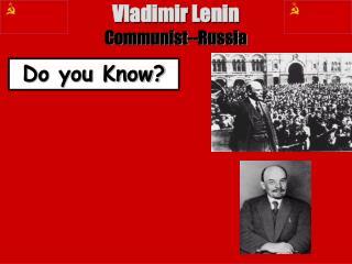 Vladimir Lenin Communist--Russia