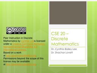 CSE 20 – Discrete Mathematics